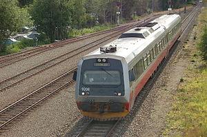 Trøndelag Commuter Rail - A Class 92 train at Levanger