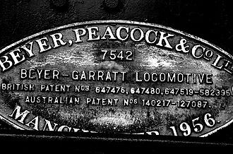 Beyer, Peacock and Company - NSWGR AD60 Class Locomotive Makers Plate