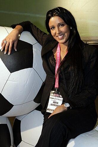 Dani Güiza - Güiza's partner and agent, Nuria Bermúdez.