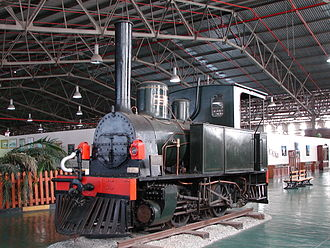 NZASM 14 Tonner 0-4-0T - No. 1 Transvaal at the Outeniqua Transport Museum, 15 April 2013