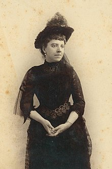 Portrait of Nancy Fish Barnum in 1888
