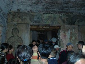 Southern Tang - Inside the Qinling (欽陵) Mausoleum of Emperor Liezu. Zutang Mountains, Jiangning District, Nanjing