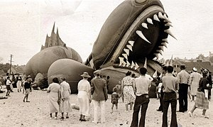 Tony Sarg - Sarg's Nantucket Sea Serpent, 1937.