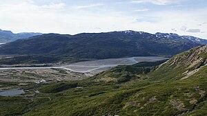 Narsarsuaq - Narsarsuaq valley (Flower valley), seen from Mellemlandet