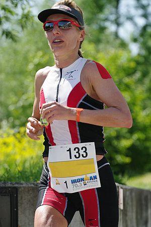 Natascha Badmann - Natascha Badmann competing in 2012 at Ironman 70.3 Austria