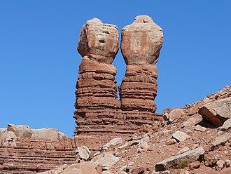 Bluff, Utah - The Navajo Twin Rocks, an attraction in Bluff, November 2007