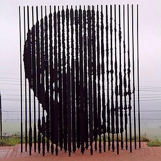 Howick, KwaZulu-Natal - Artwork at Mandela Capture site, Howick
