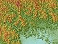 Neodani Fault Relief Map, SRTM-1.jpg