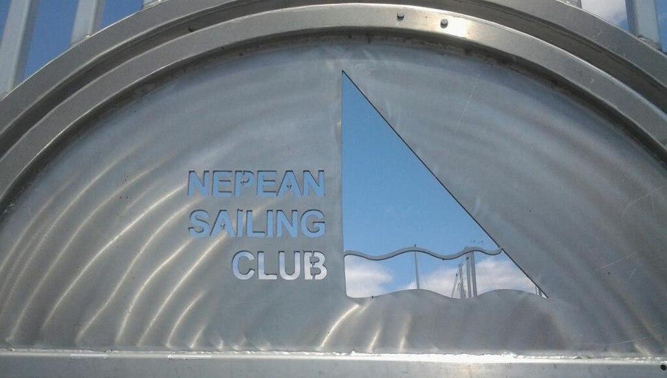 Nepean Sailing Club metal sign