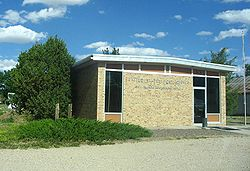 The New Raymer Post Office in the Town of Raymer, Colorado