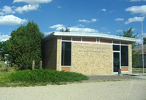 Raymer, Colorado - The New Raymer Post Office in the Town of Raymer, Colorado