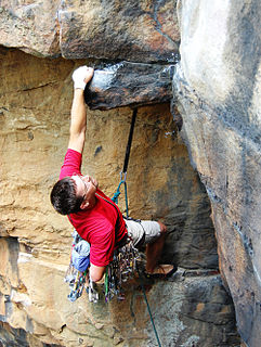 Traditional climbing Style of rock climbing