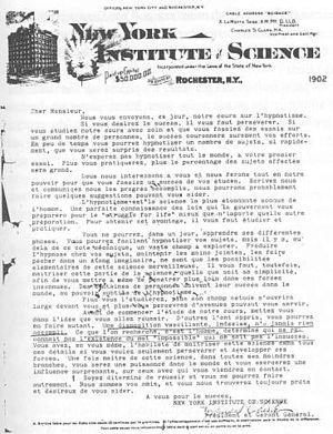 Michel Moine - Hypnosis correspondence course found in his grandparents' attic.