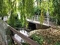 New footbridge over brook, Manor Road - geograph.org.uk - 1566194.jpg