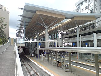 Newmarket railway station, Auckland - An overview of Newmarket Station shortly after its redevelopment.