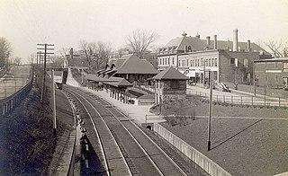 Highland branch Suburban railway line in Boston, Massachusetts