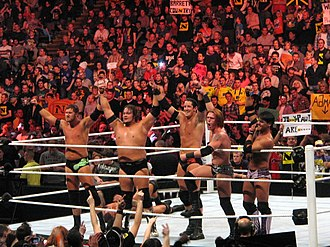The Nexus (professional wrestling) - The Nexus after losing Michael Tarver to injury and adding Husky Harris and Michael McGillicutty on the October 25, 2010 episode of Raw