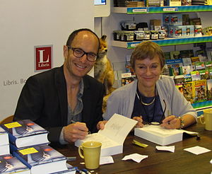 Nicci French - Nicci French during a book signing session in the Netherlands, 2013