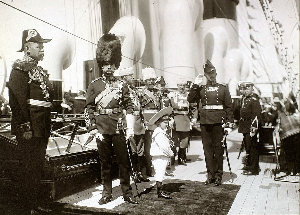 Nicholas II and Alexei in Reval 1908