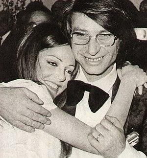 Nicola Di Bari - Di Bari and Nada celebrate victory at the Sanremo Music Festival 1971