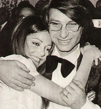 Nicola Di Bari - Di Bari and Nada celebrate victory at the Sanremo Music Festival 1971