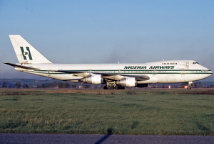 Nigeria Airways Boeing 747-200BM SE-DFZ FCO Feb 1988.png