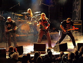 Nightingale (band) - Nightingale live at Nosturi, 2008 (left to right: Erik Oskarsson, Tom Björn, Dan Swanö and Dag Swanö)