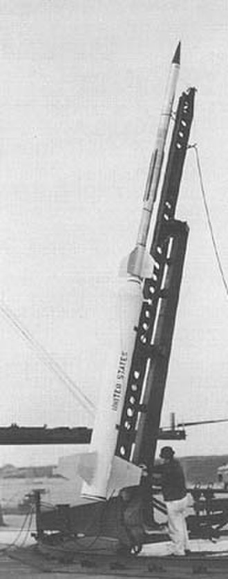 Space and Upper Atmosphere Research Commission - The preparations are being made to launched the Pakistan-based Rehbar Nike-Cajun in launch position in the 1962.