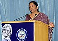 Nirmala Sitharaman addressing the gathering, during the 87th Birth Anniversary function of the former President of India and DRDO Chief, Dr. A.P.J. Abdul Kalam, on his 87th Birth Anniversary, at DRDO Bhawan, New Delhi.JPG