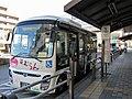 Nishi Tokyo Bus B21251 Hamurun EV bus at Ozaku Station.jpg