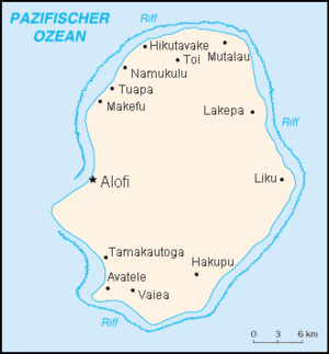 List Of Villages In Niue Wikipedia - Niue map
