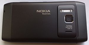 Camera phone - The Nokia N8 smartphone is the first Nokia smartphone with a 12-megapixel autofocus lens, and is one of the few camera phones (the first was Nokia N82) to feature Carl Zeiss optics with xenon flash.