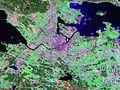 Norrköping, Sweden, photographed by Landsat 7 circa 2000.jpg