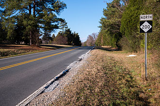North Carolina Highway 200 - First sign for north NC 200 after the state line