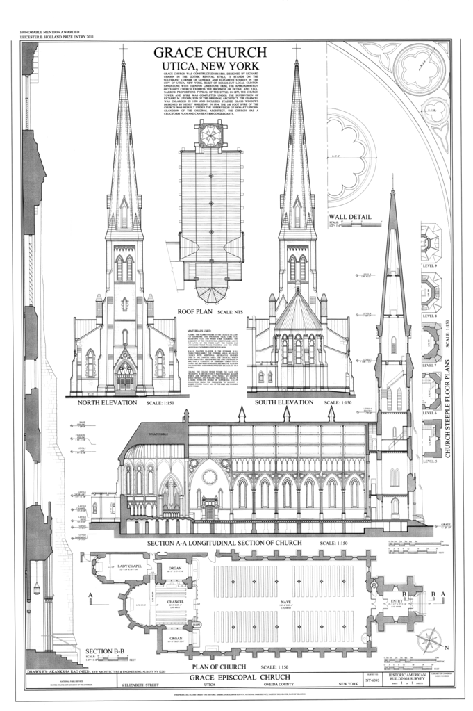 Church Elevation Plan : File north and south elevations floor plan roof