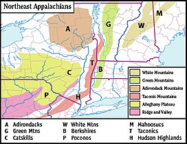 Catskill Mountains Map Catskill Mountains Map NortheastAppalachiansMap.jpg. Map of the main mountainous .