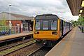 Northern Rail Class 142, 142004, Bredbury railway station (geograph 4512676).jpg