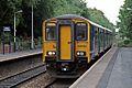 Northern Rail Class 150, 150220, Westhoughton railway station (geograph 4531867).jpg