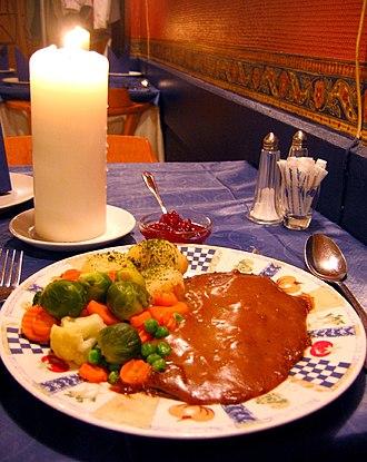 Norwegian cuisine - Reinsdyrsteik (reindeer roast)