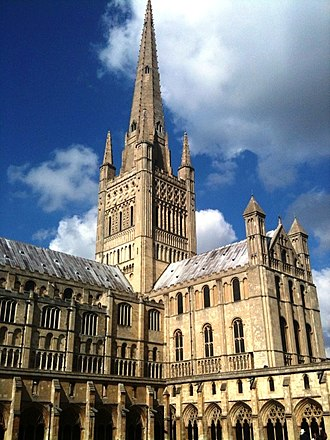 Norwich - Norwich Cathedral is one of the great Norman buildings of England.