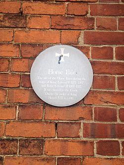 Photo of Horse Fair, Norwich green plaque