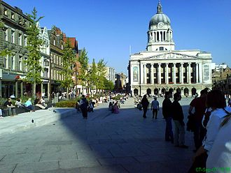 Old Market Square - Nottingham Council House from the square