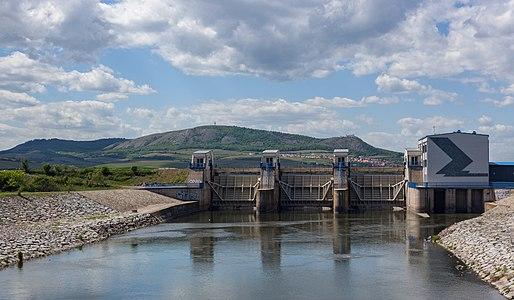 Dam of Nové Mlýny reservoir cascade