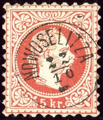 Novoselytsia Raion - Austrian stamp cancelled around 1874 in the Bukovina province