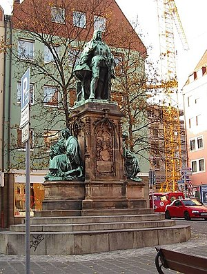 Martin Behaim - Monument of Martin Behaim in the Theresienplatz, Nuremberg