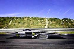 The solar powered car The Nuna 3 built by the Dutch Nuna team
