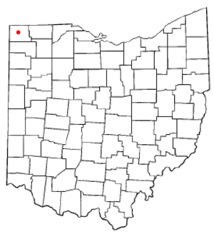 Montpelier, Ohio - Image: OH Map doton Montpelier
