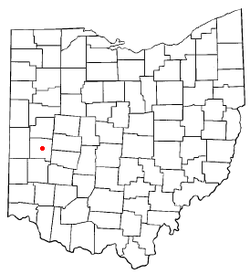 Location of Troy, Ohio