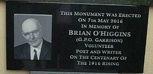 Brian O'Higgins - Image: O Higgins memorial