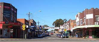 Oatley, New South Wales - Frederick Street and Oatley Avenue intersection